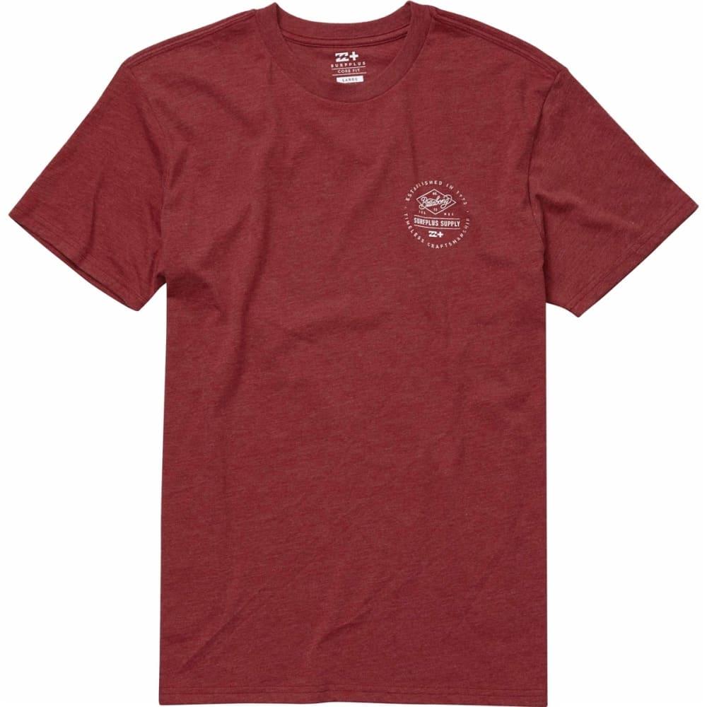 Billabong Young Men's Union Tee Shirt - Red, S