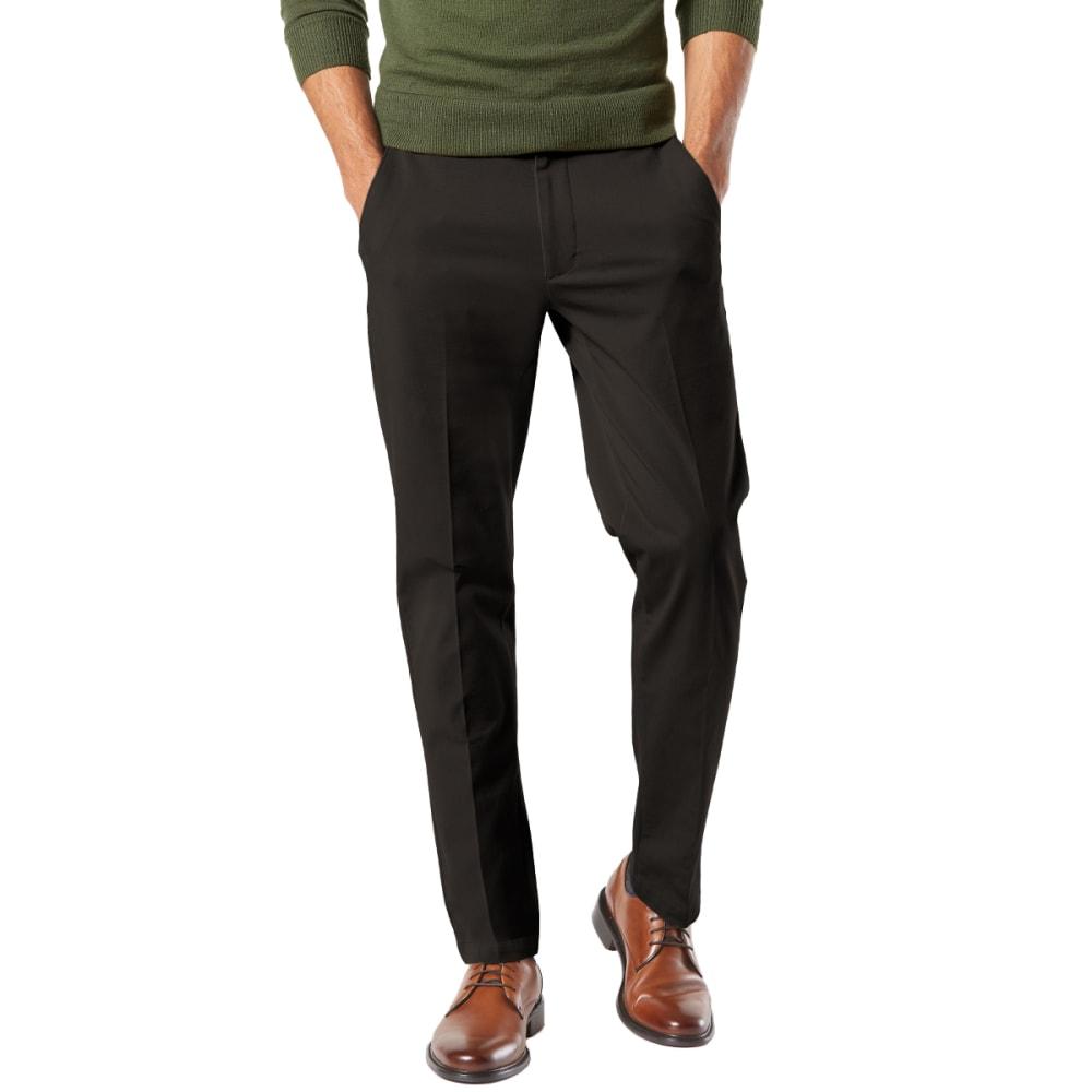 DOCKERS Men's Slim Tapered Fit Workday Khaki Smart 360 FLEX Pants - BLACK 0006