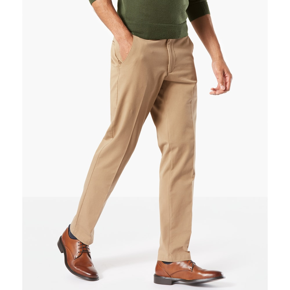 DOCKERS Men's Slim Tapered Fit Workday Khaki Smart 360 FLEX Pants - N BRIT KHAKI 0001