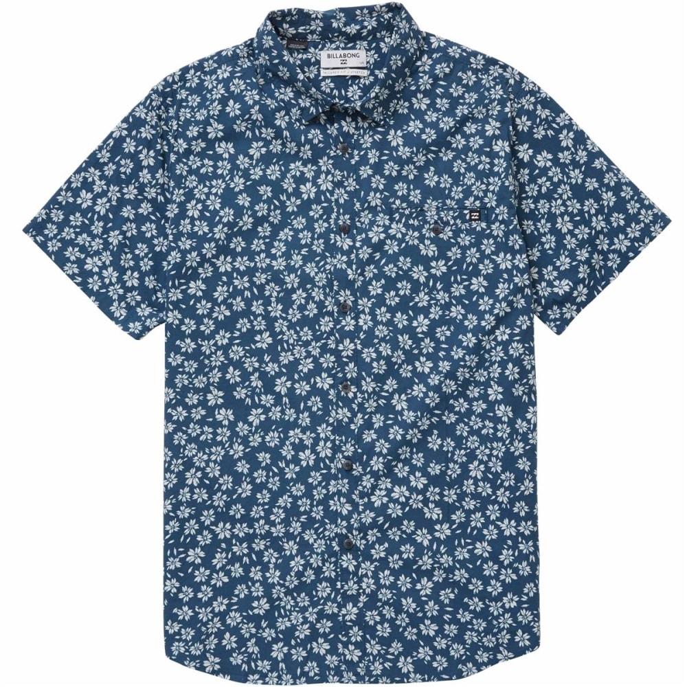 Billabong Men's Sundays Mini Short Sleeve Shirt - Blue, S