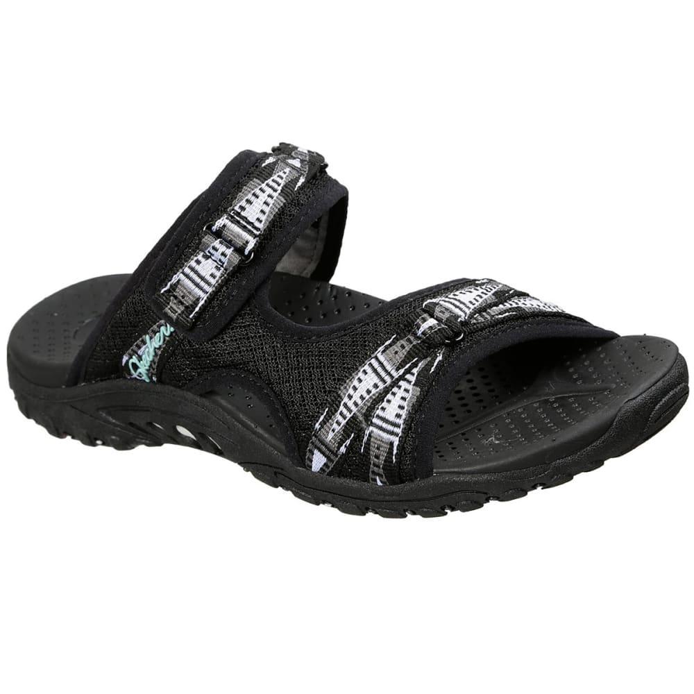 Skechers Women's Reggae Fizzle Sandal - Black, 6