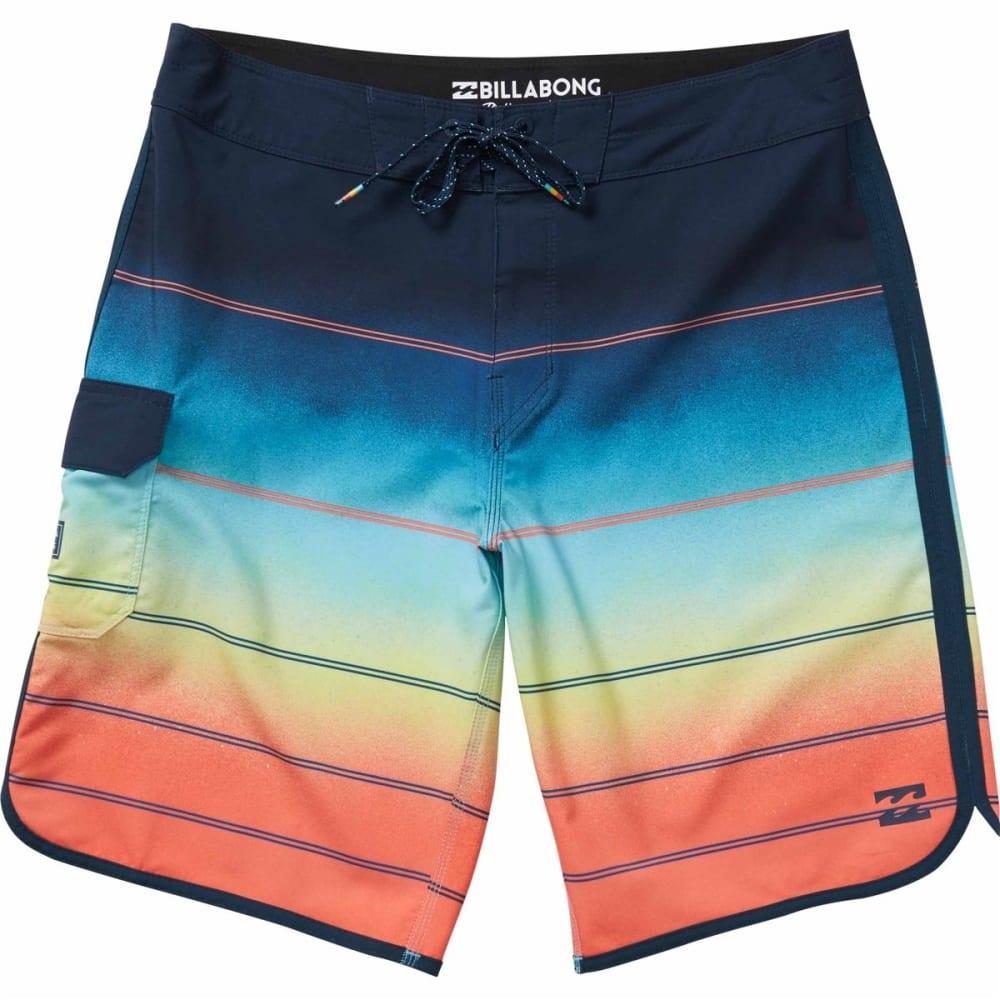 Billabong Men's 73 X Stripe Boardshorts - Orange, 28