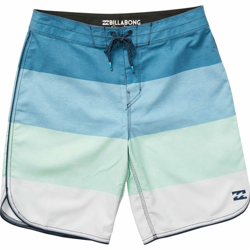 Billabong Guys' 73 Og Stripe Boardshorts - Blue, 28