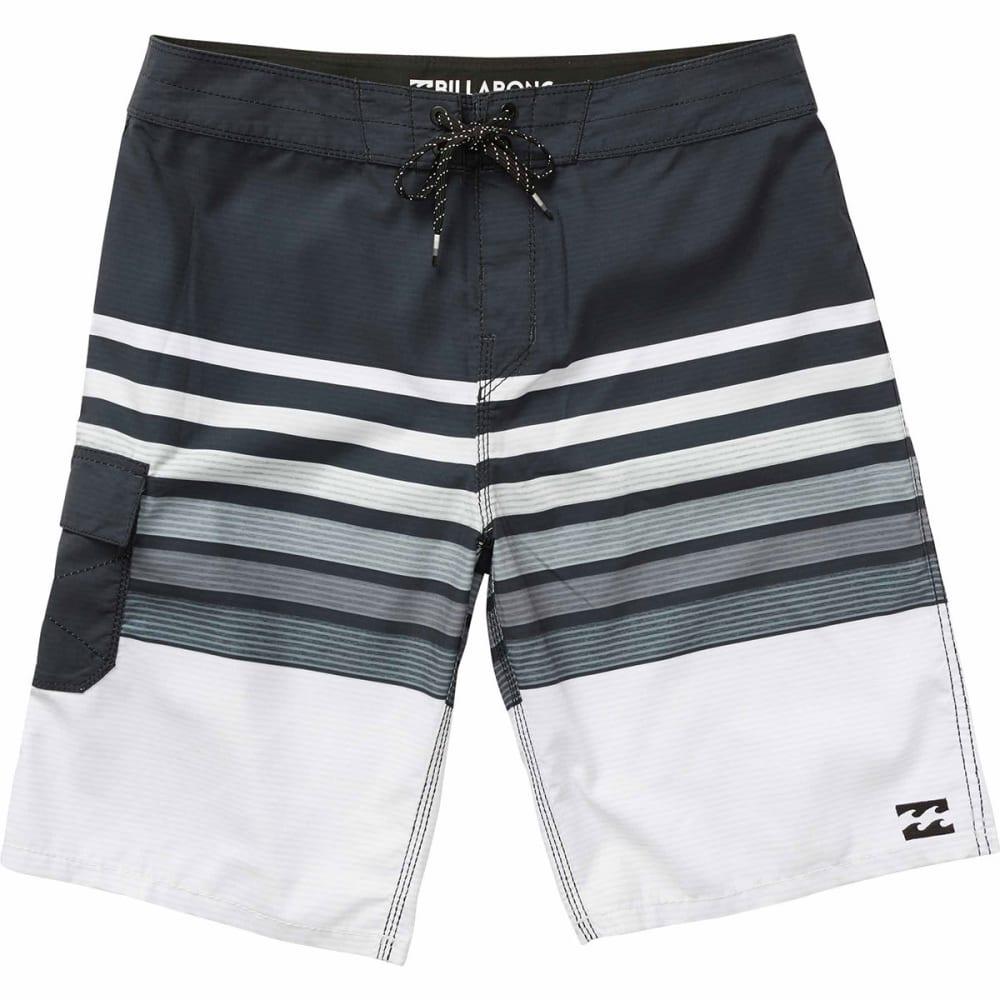 Billabong Guys' All Day Og Stripe Boardshorts - Black, 30