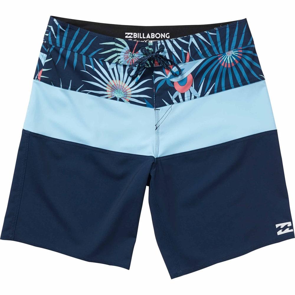 Billabong Guys' Tribong X Boardshorts - Blue, 32