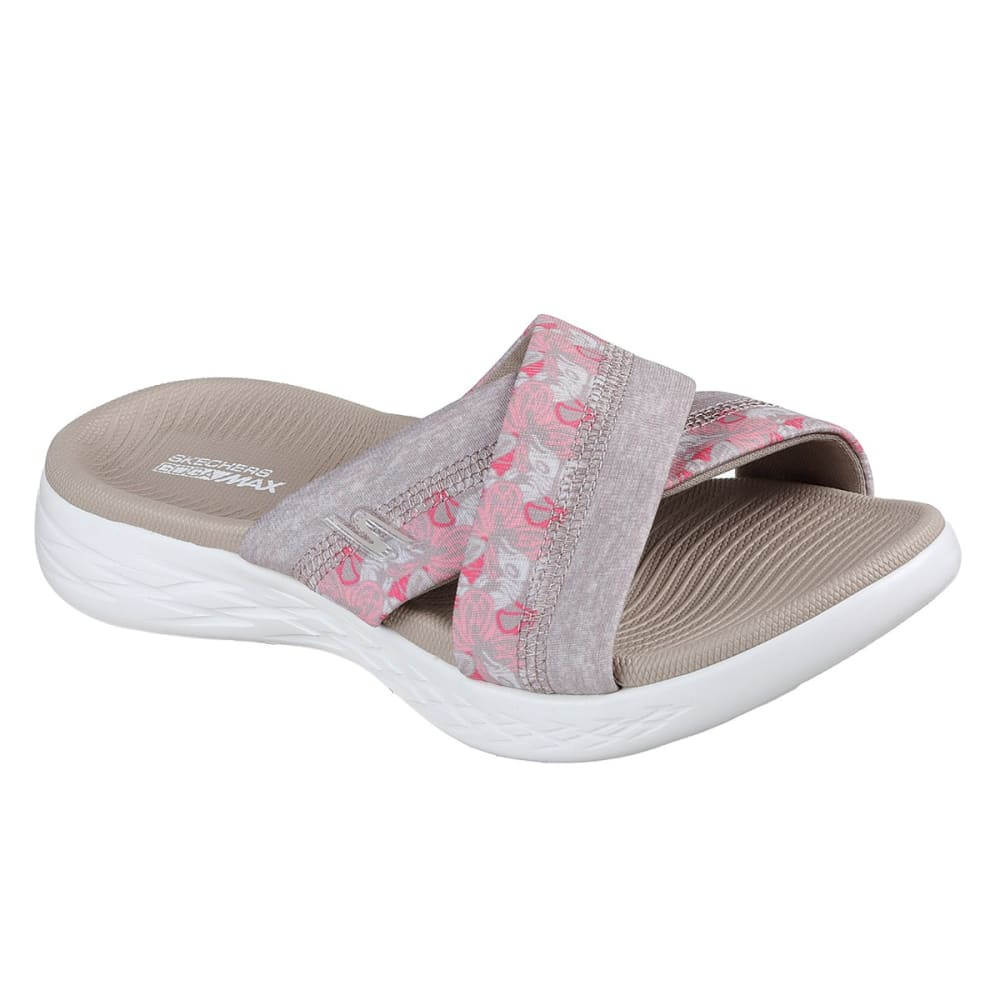 SKECHERS Women's On The GO 600 – Monarch Sandals - TAUPE-TPE