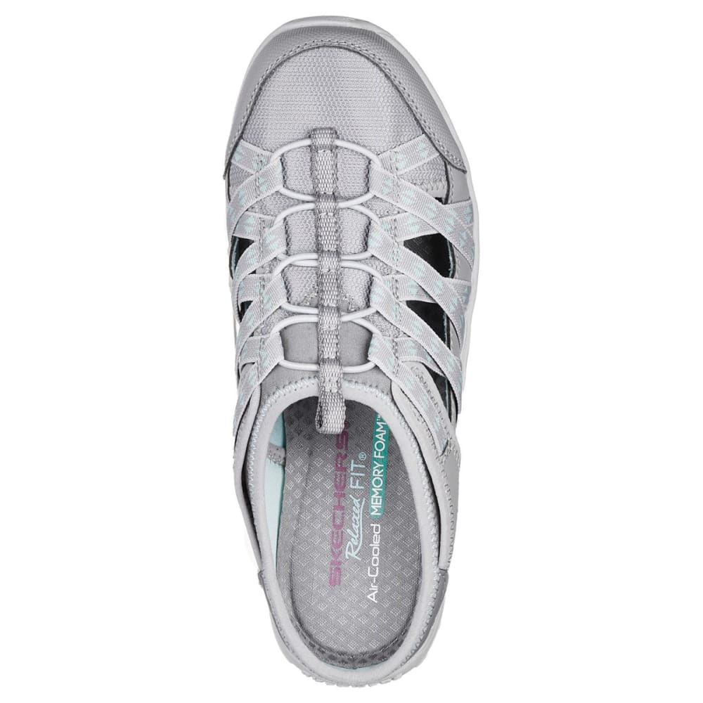 SKECHERS Women's Relaxed Fit: Reggae Fest - Marlin Casual Slip-On Shoes - GREY-GRY