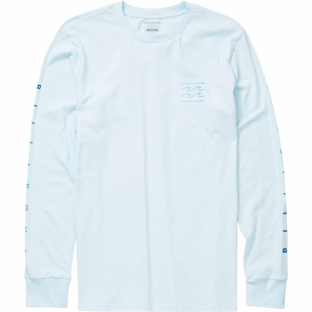 BILLABONG Young Men's Unity Sleeve Long Sleeve Tee Shirt - COASTAL BLUE-CBU