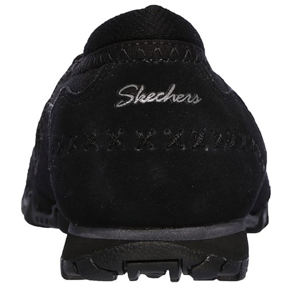 SKECHERS Women's Relaxed Fit: Bikers Casual Slip-On Shoes - BLACK