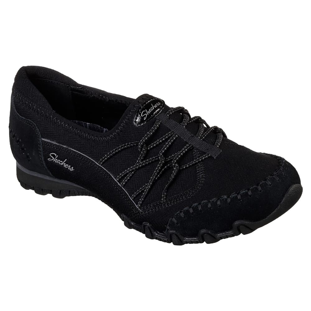 Skechers Women's Relaxed Fit: Bikers Casual Slip-On Shoes - Black, 7