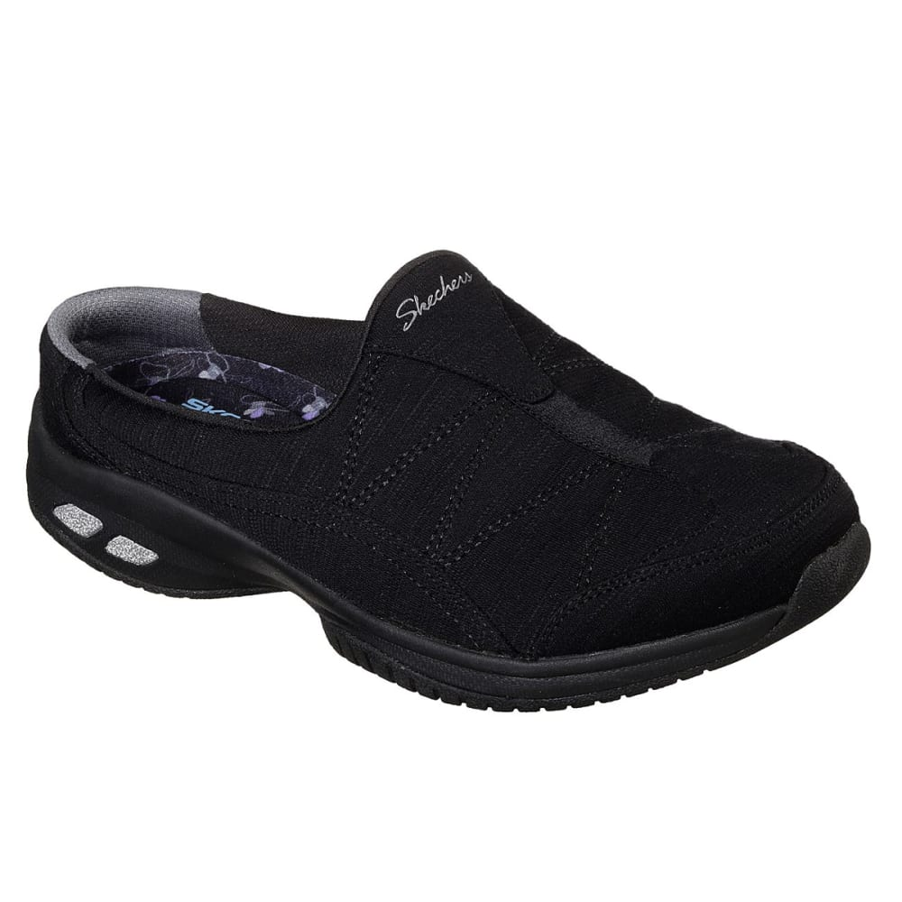 Skechers Women's Relaxed Fit: Commute - Carpool Casual Slip-On Shoes - Black, 7.5