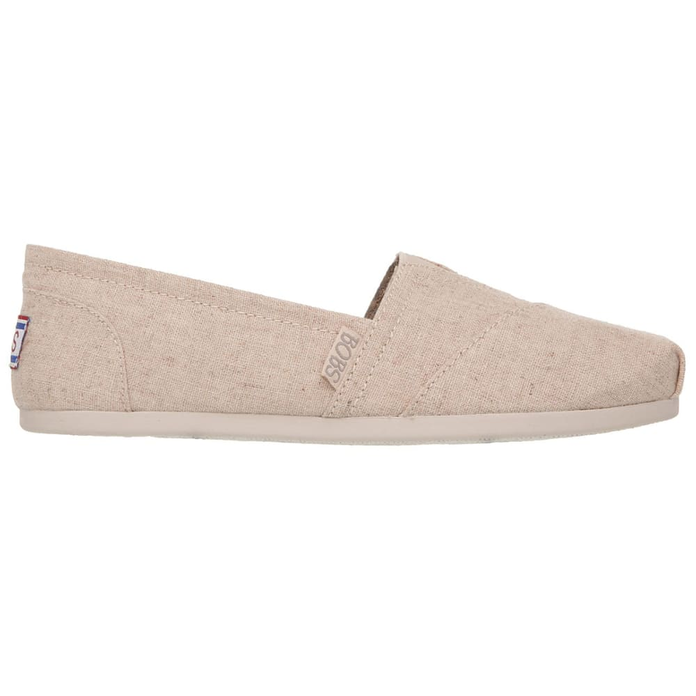 SKECHERS Women's Bobs Plush Best Wishes Casual Shoes - NATURAL