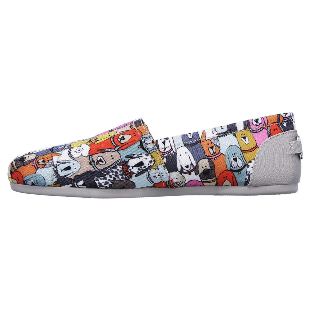 SKECHERS Women's Bobs Plush - Wag Party Casual Slip-On Shoes - MULTI