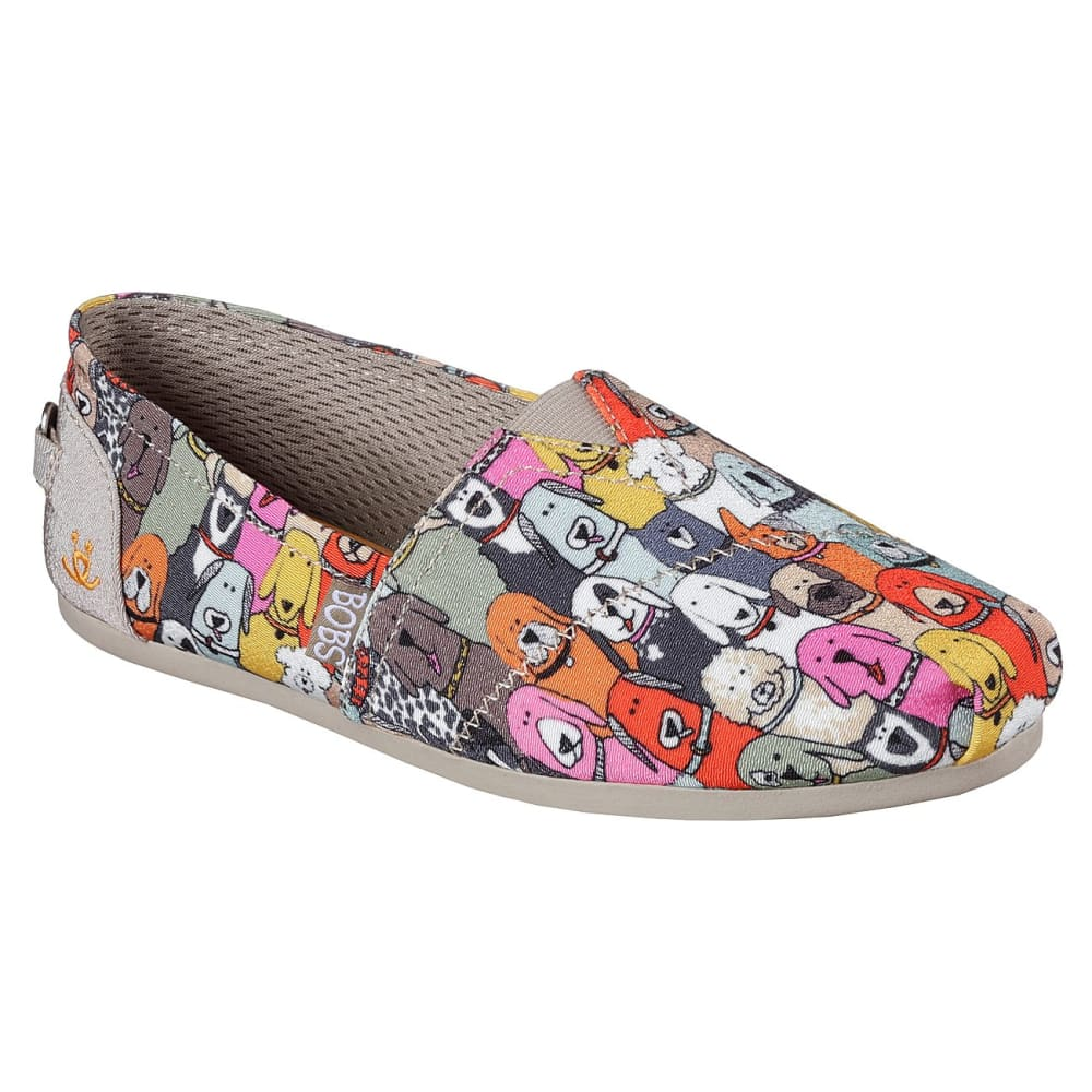 Skechers Women's Bobs Plush - Wag Party Casual Slip-On Shoes - Various Patterns, 6