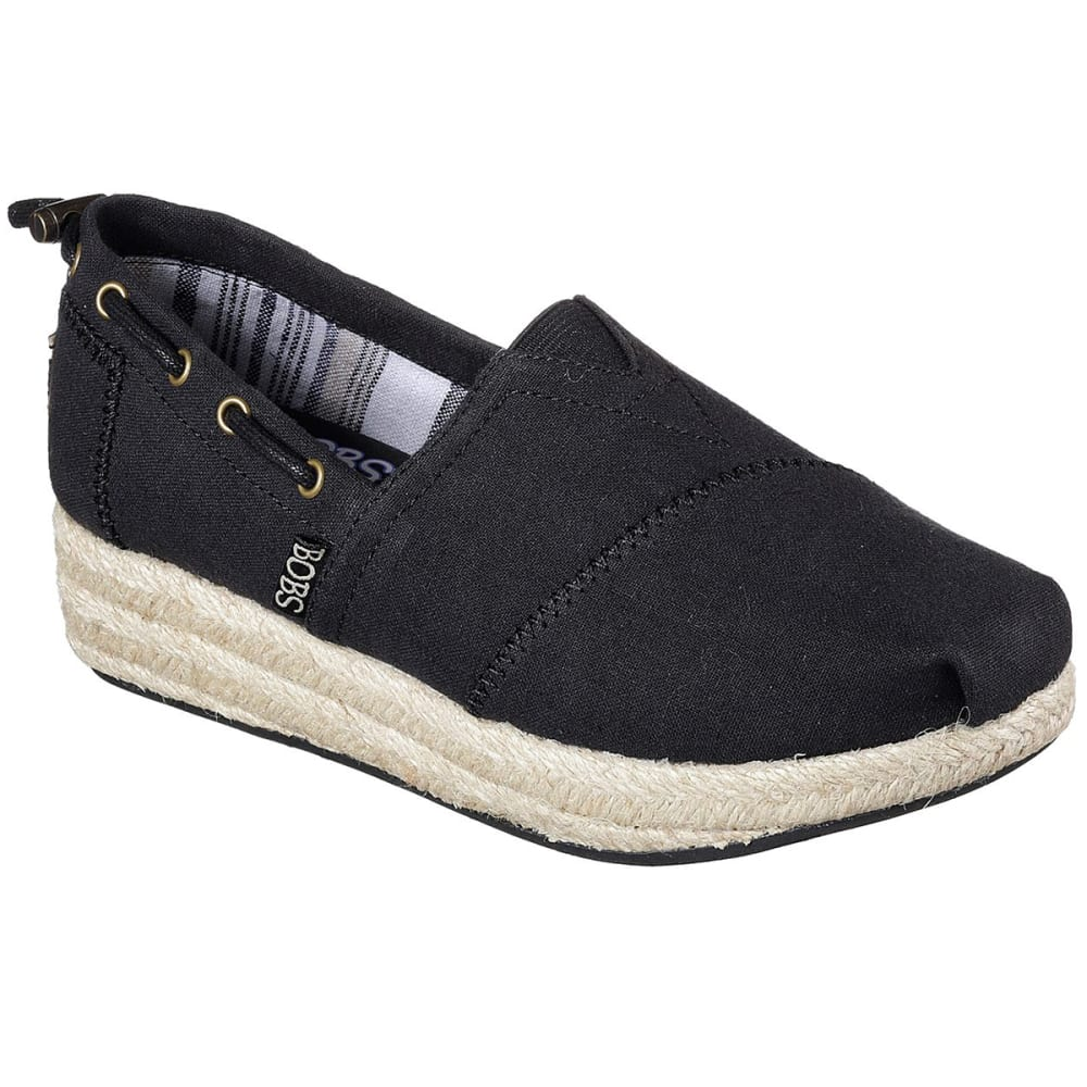 "Skechers Women's Bobs Highlights """" Set Sail Casual Shoes - Black, 6"