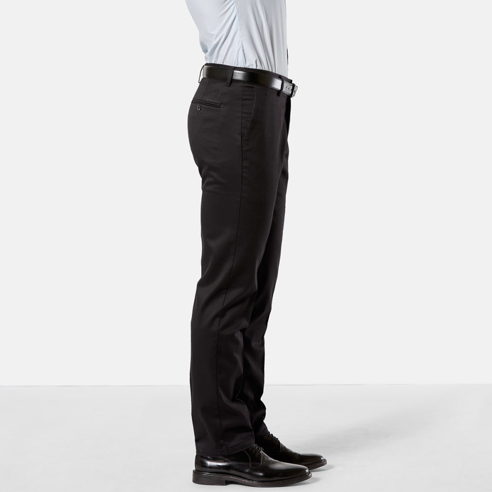 DOCKERS Men's Slim Tapered Fit Signature Khaki Pants - BLACK 0001