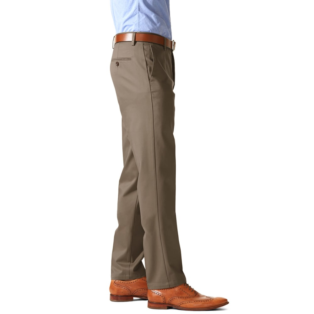 DOCKERS Men's Slim Tapered Fit Signature Khaki Pants - DARK PEBBLE 0004