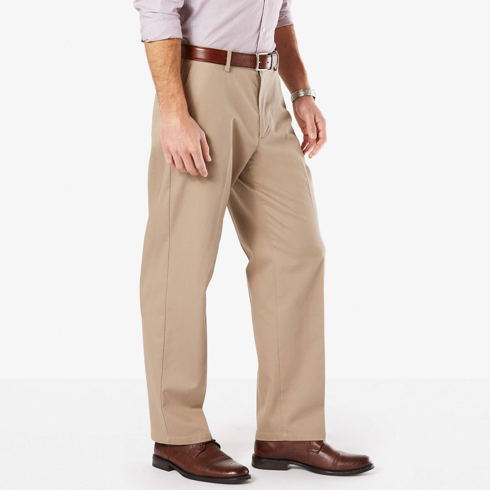 DOCKERS Men's Relaxed Fit Signature Khaki Pants - TIMBERWOLF 0000