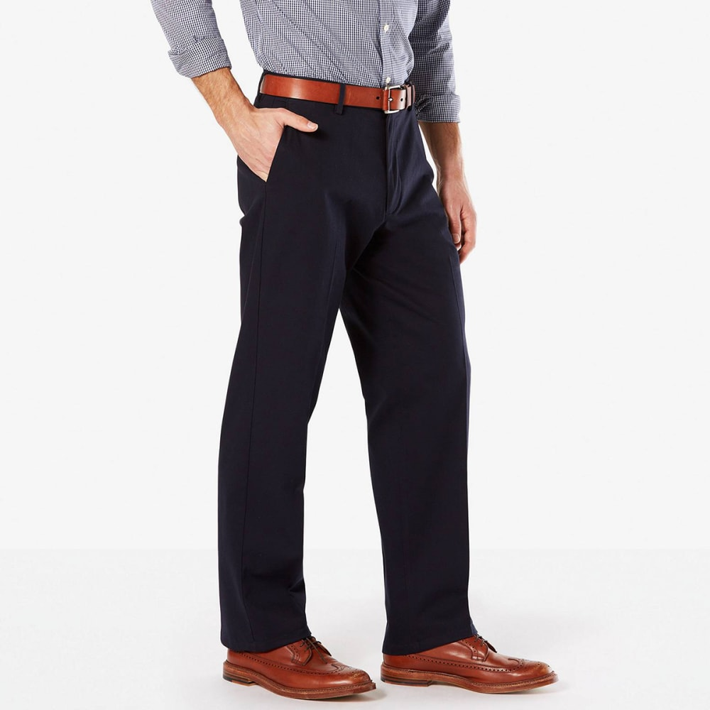DOCKERS Men's Relaxed Fit Signature Khaki Pants - DOCKER NAVY 0001