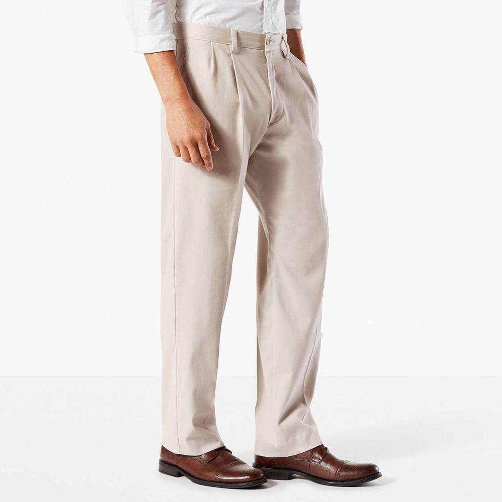 DOCKERS Men's Classic Fit Easy Khaki Pleated Pants - CLOUD 0000