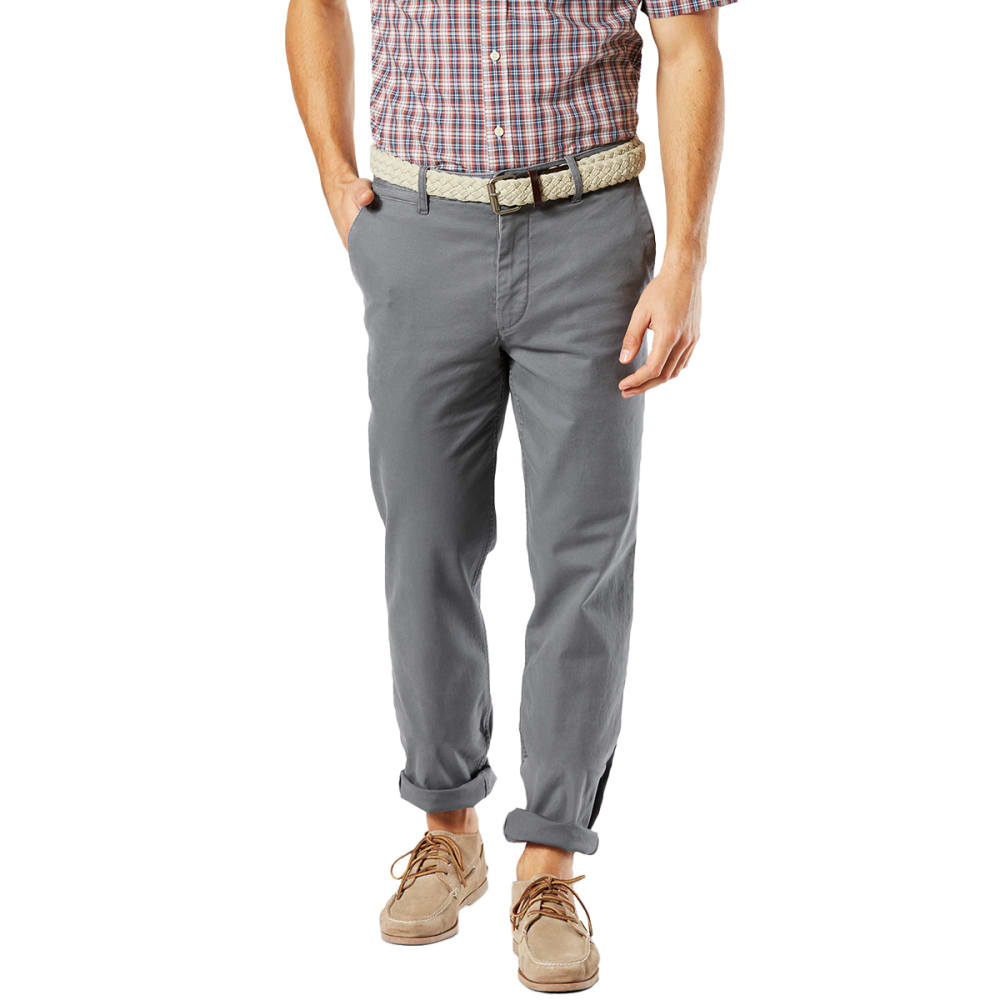 DOCKERS Men's Straight Fit Washed Khaki Pants - BURMA GREY 0002