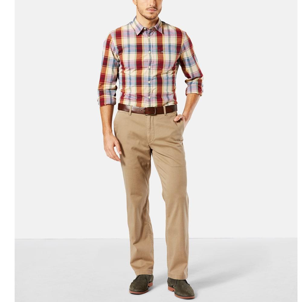 DOCKERS Men's Straight Fit Washed Khaki Pants - N BRITISH KHAKI 0001