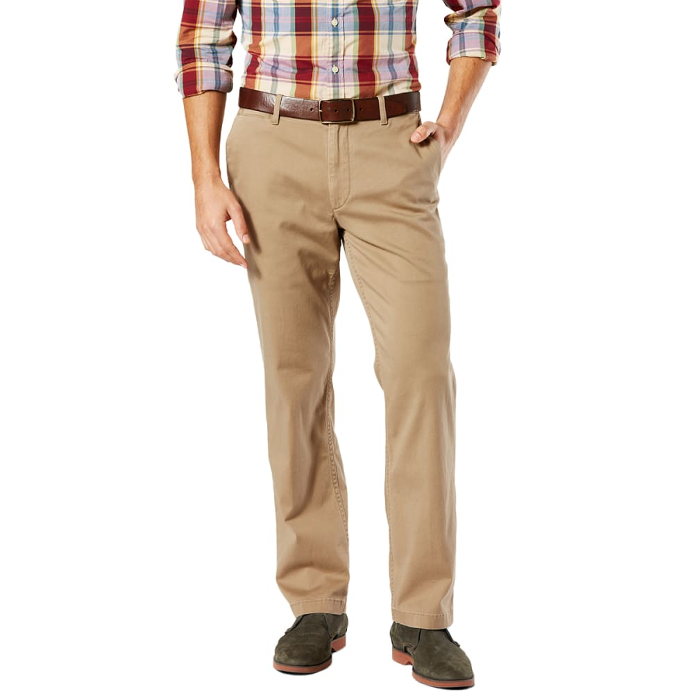 DOCKERS Men's Straight Fit Washed Khaki Pants - N BRITISH KHAKI 0001