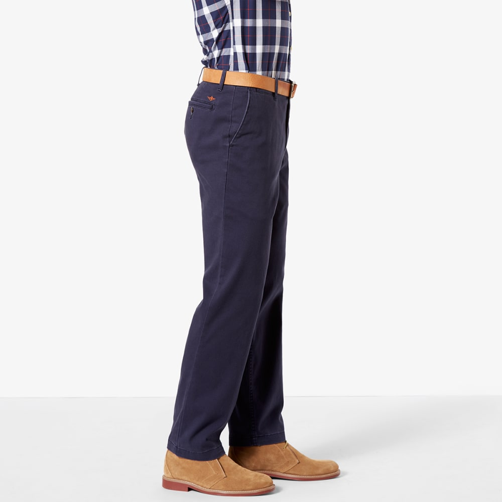 DOCKERS Men's Straight Fit Washed Khaki Pants - PEMBROKE NAVY 0003