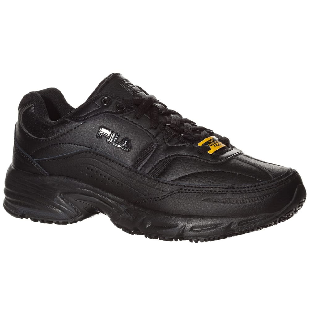 FILA Women's Memory Workshift Service Shoes, Black - BLACK-001