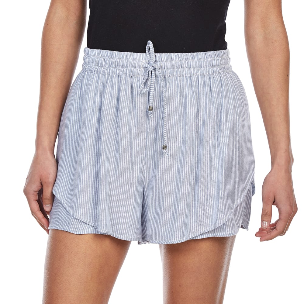 ANGIE Juniors' Double Layer Petal Shorts - HD75 BLUE