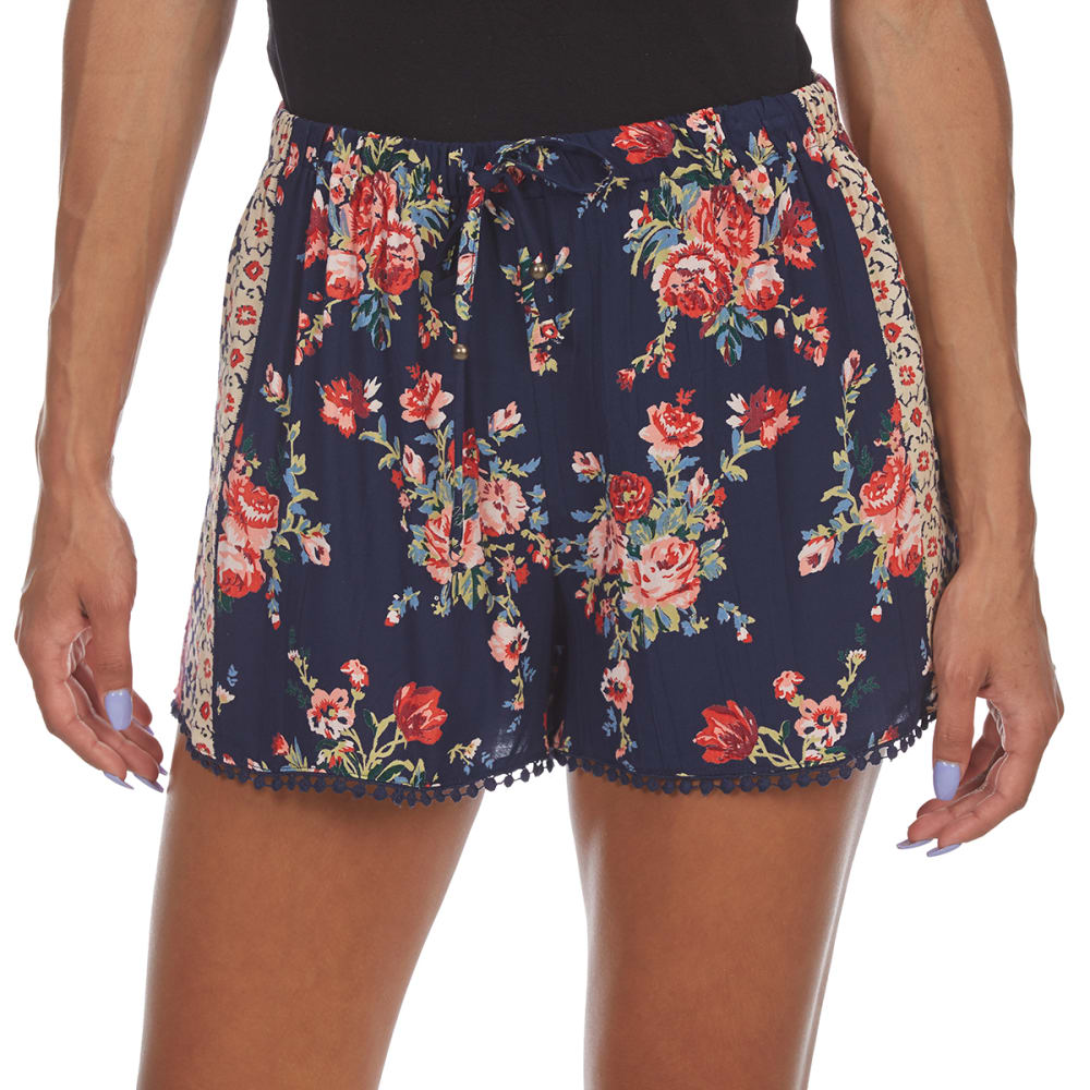 ANGIE Juniors' Dolphin Trim Shorts S