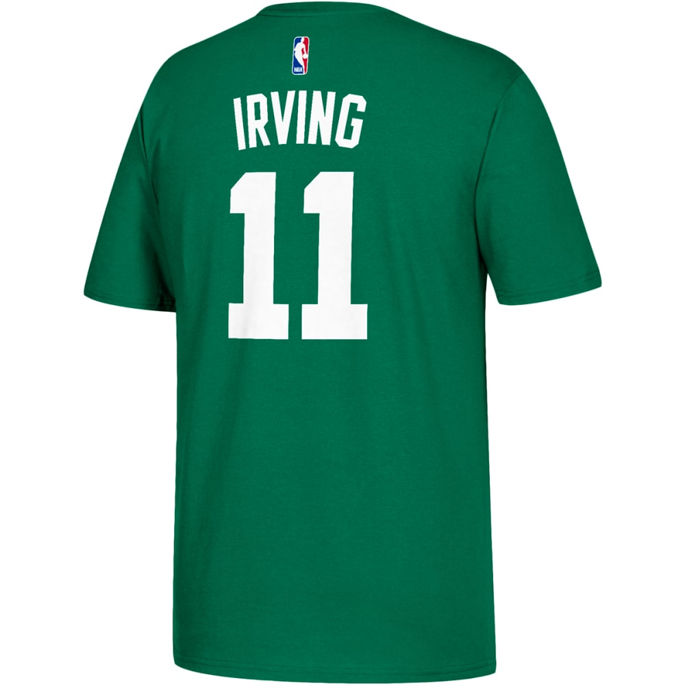BOSTON CELTICS Men's Kyrie Irving #11 Name and Number Short-Sleeve Tee - GREEN