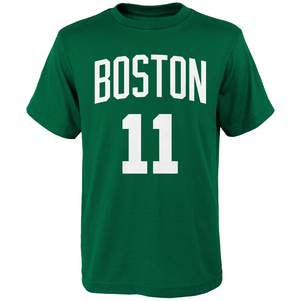 BOSTON CELTICS Big Boys' Kyrie Irving #11 Name and Number Short-Sleeve Tee - GREEN