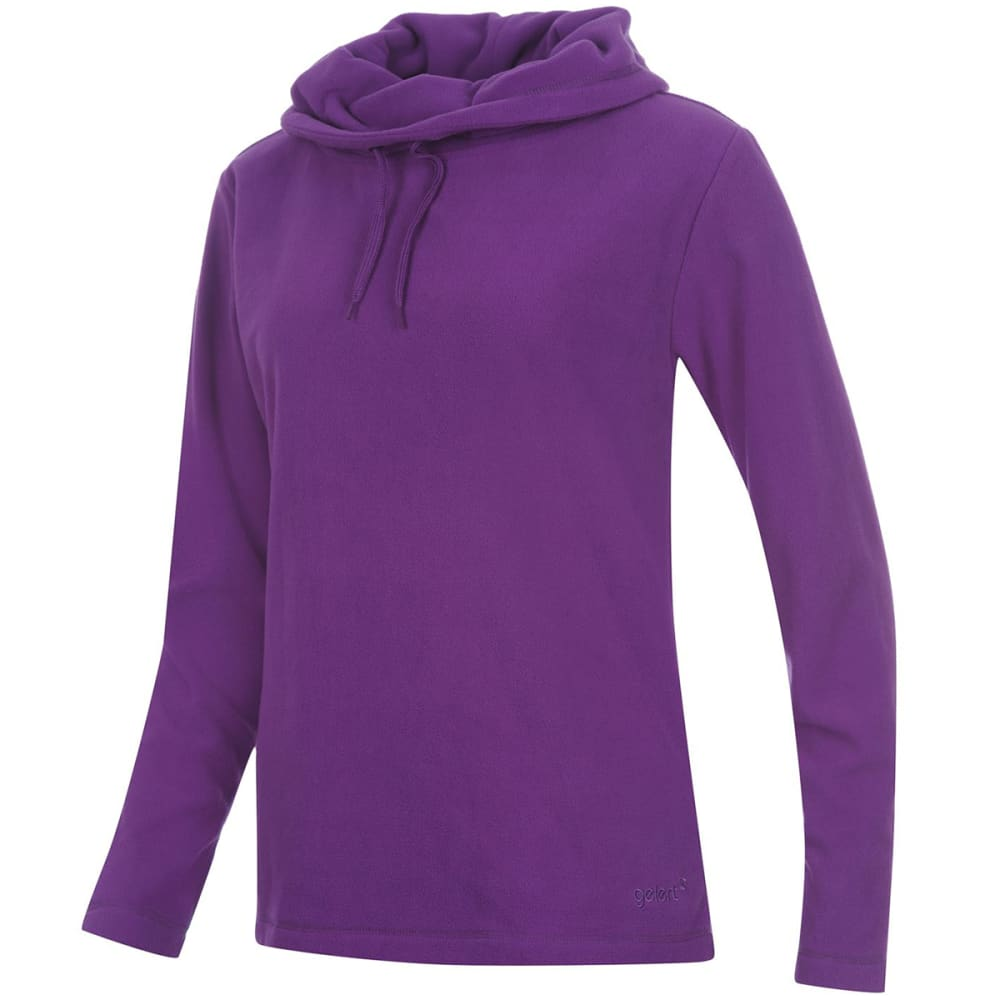 GELERT Women's Cowl Neck Fleece Pullover - PURPLE
