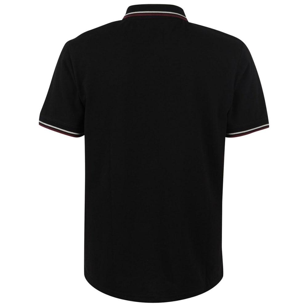 FIRETRAP Men's Lazer Slim Fit Polo Short-Sleeve Shirt - BLACK