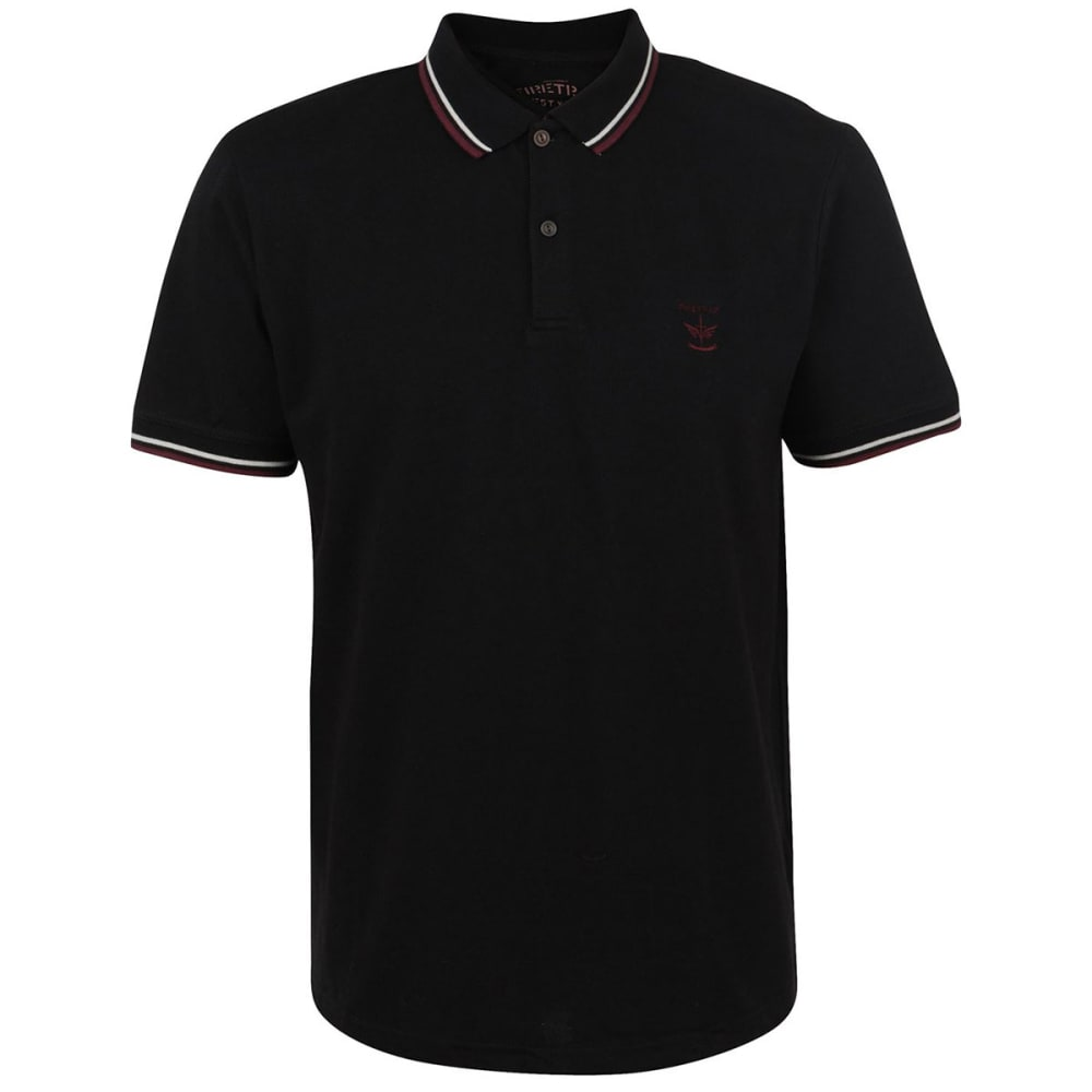 FIRETRAP Men's Lazer Slim Fit Polo Short-Sleeve Shirt - BLACK
