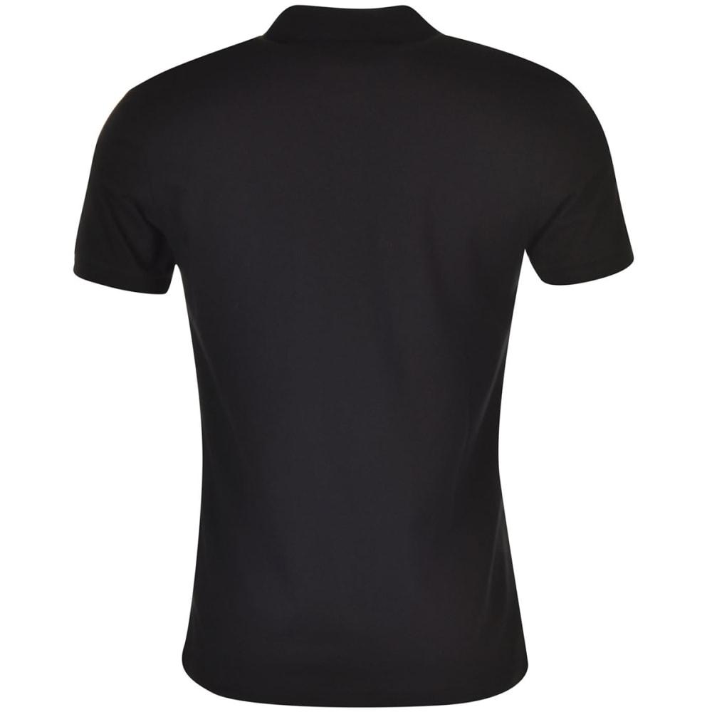 KANGOL Men's Brit Fit Short-Sleeve Polo Shirt - BLACK