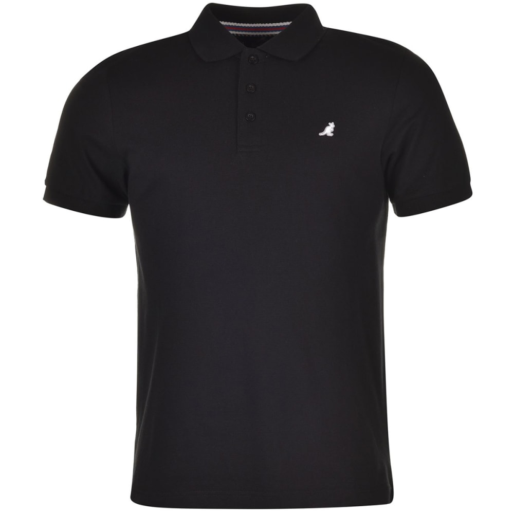 KANGOL Men's Brit Fit Short-Sleeve Polo Shirt - BLACK