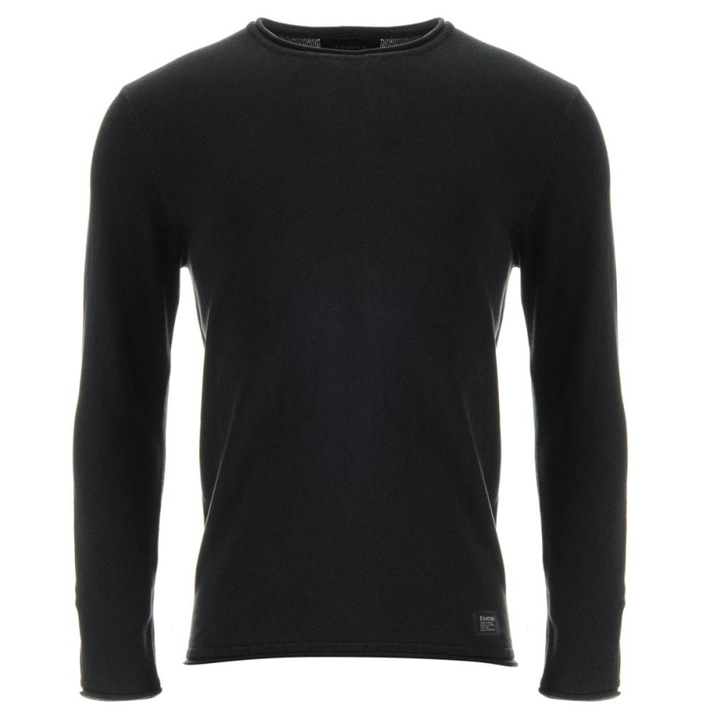 FIRETRAP Men's Acid Wash Knit Long-Sleeve Pullover - Navy Acid