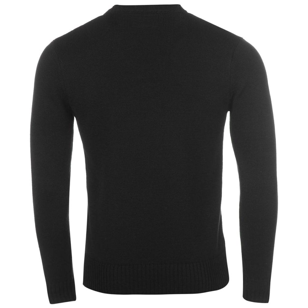 FIRETRAP Men's Galaxade Knit Long-Sleeve Sweater - BLACK