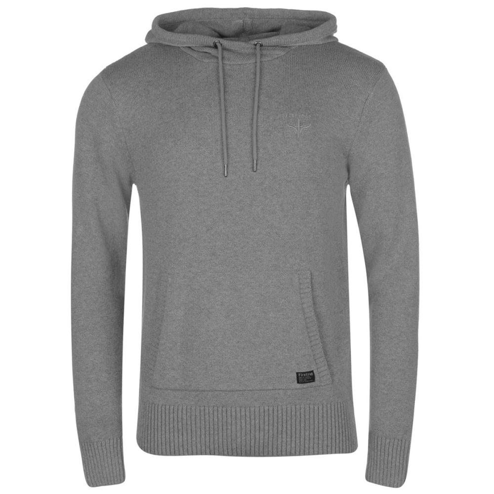 FIRETRAP Men's Knit Hooded Long-Sleeve Sweater - GREY MARL