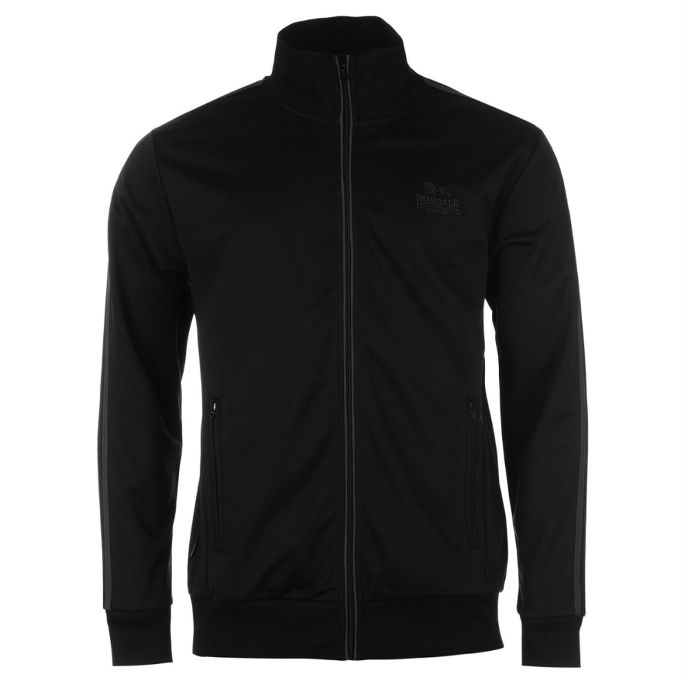 LONSDALE Men's Track Jacket - BLACK/CHARCOAL
