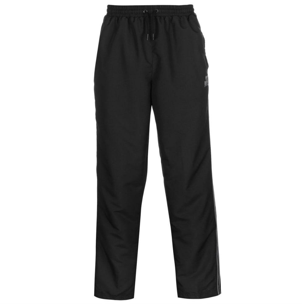 LONSDALE Men's 2-Stripe Open-Hem Woven Pants - BLACK/CHARCOAL