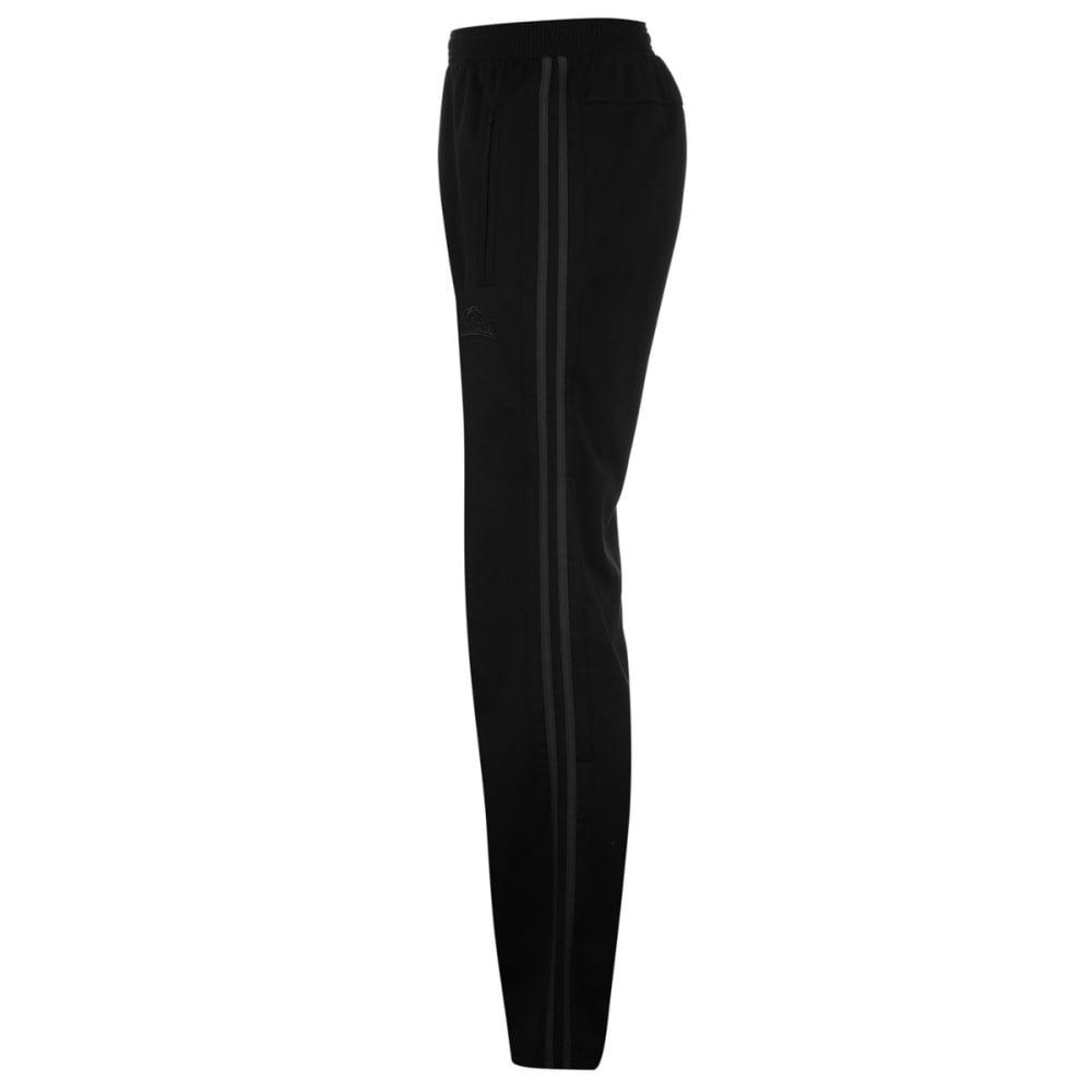 LONSDALE Men's Track Pants - BLACK/CHARCOAL