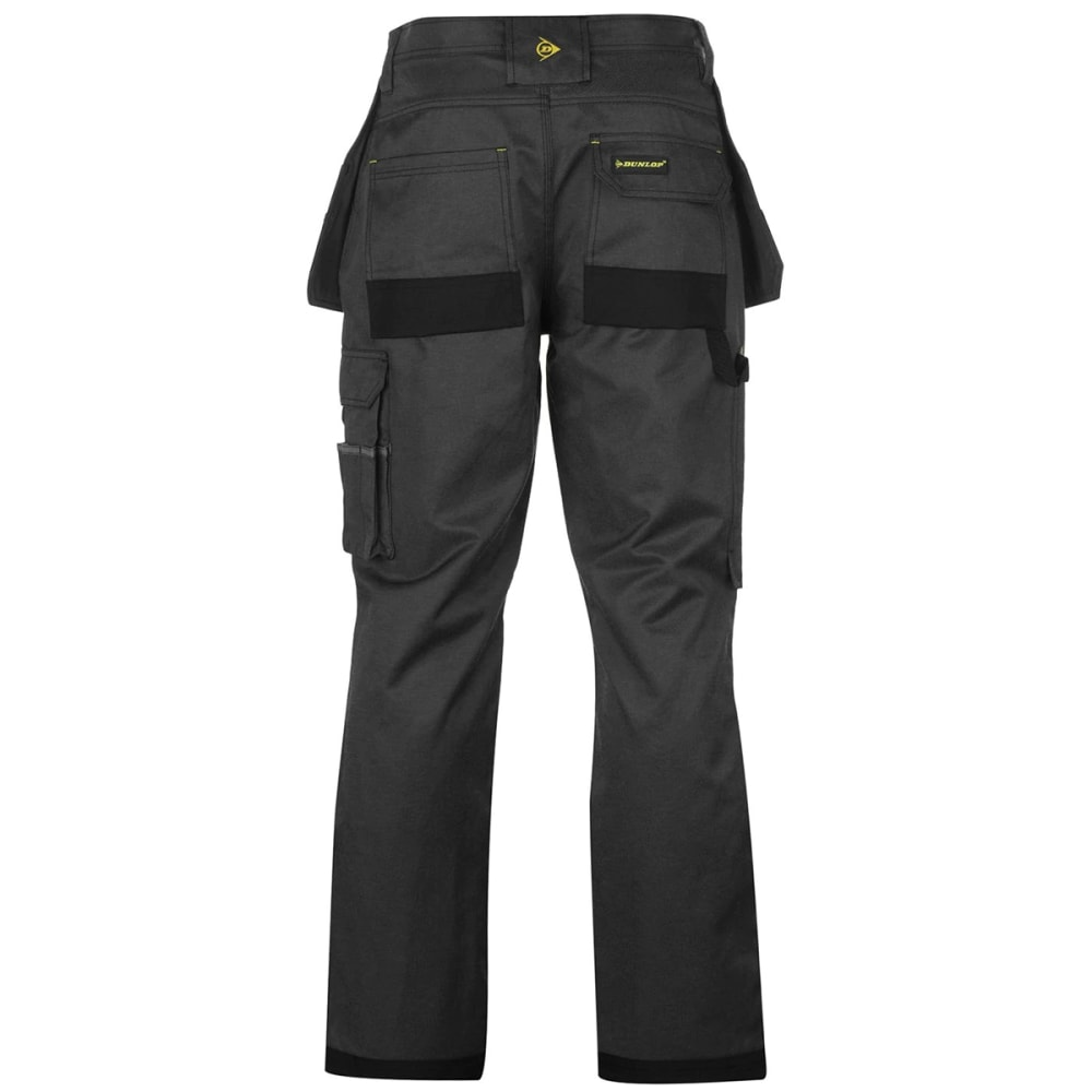 DUNLOP Men's Marathon Work Pants - BLACK/CHARCOAL