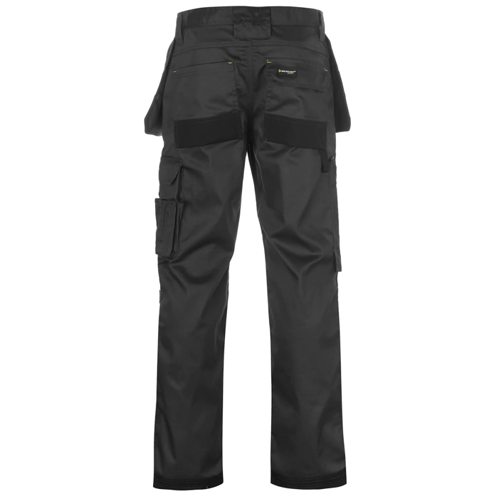 DUNLOP Men's On-Site Work Pants - CHARCOAL/BLACK