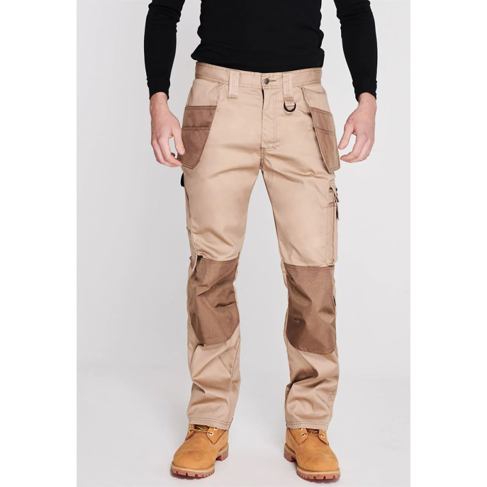 DUNLOP Men's On-Site Work Pants - BEIGE