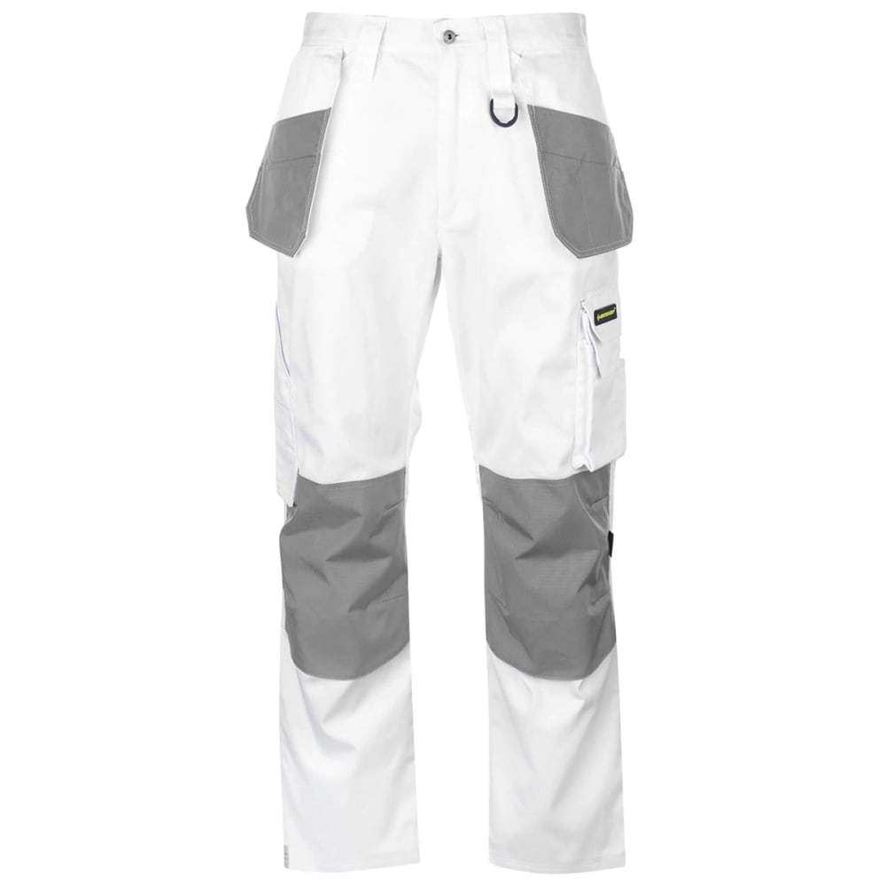 DUNLOP Men's On-Site Work Pants - WHITE/GREY