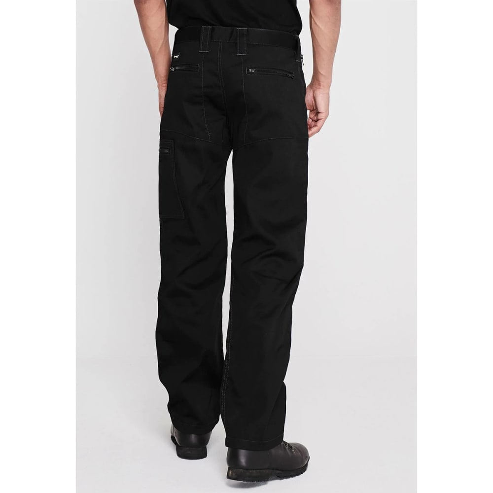 DUNLOP Men's Safety Zipper Work Pants - BLACK