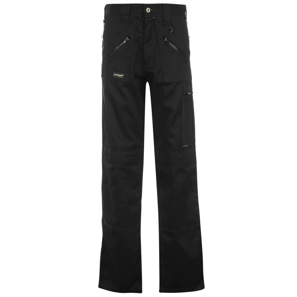 DUNLOP Men's Safety Zipper Work Pants - BLACK